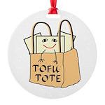 Funny Tofu Tote Round Ornament