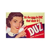 DUZ Detergent Ad Rectangle Magnet