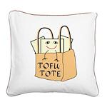 Funny Tofu Tote Square Canvas Pillow