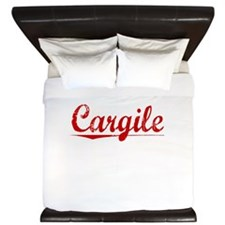 Cargile, Vintage Red King Duvet