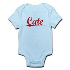 Cate, Vintage Red Infant Bodysuit