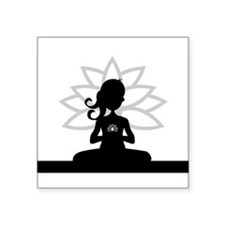 Yoga Girl Silhouette Sticker