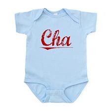 Cha, Vintage Red Infant Bodysuit