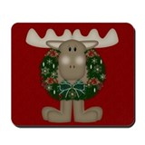 Christmas Moose Mousepad