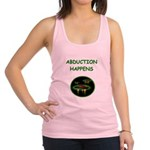 funny alien abduction ufo joke Racerback Tank Top