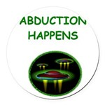 funny alien abduction ufo joke Round Car Magnet