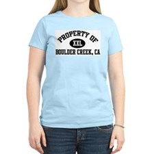 Property of BOULDER CREEK Women's Pink T-Shirt