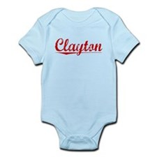 Clayton, Vintage Red Infant Bodysuit