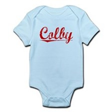 Colby, Vintage Red Infant Bodysuit