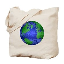 Peace On Earth Farsi Tote Bag
