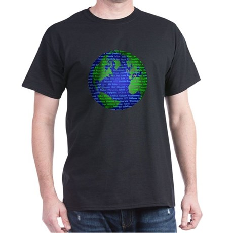 Peace On Earth Farsi Dark T-Shirt