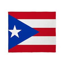 Puerto Rican Flag Throw Blanket