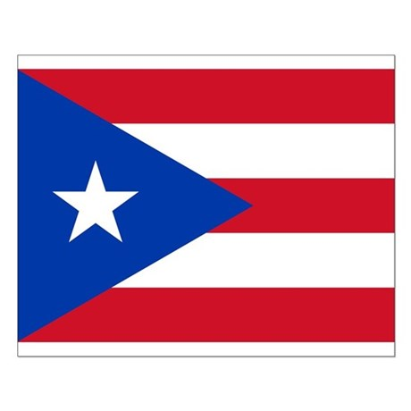 Puerto Rican Flag Small Poster