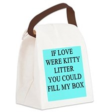 funny kitty litter box joke Canvas Lunch Bag