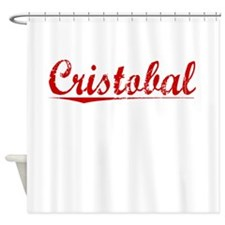 Cristobal, Vintage Red Shower Curtain