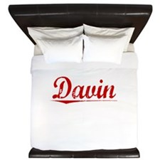 Davin, Vintage Red King Duvet