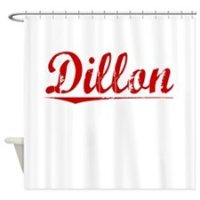 Dillon, Vintage Red Shower Curtain