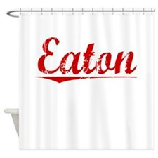 Eaton, Vintage Red Shower Curtain