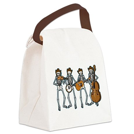 Cowboy Music Skeletons Canvas Lunch Bag