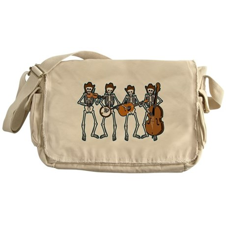 Cowboy Music Skeletons Messenger Bag