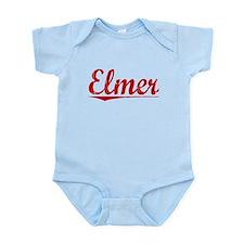 Elmer, Vintage Red Infant Bodysuit