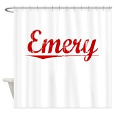 Emery, Vintage Red Shower Curtain