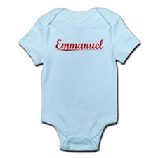Emmanuel, Vintage Red Infant Bodysuit