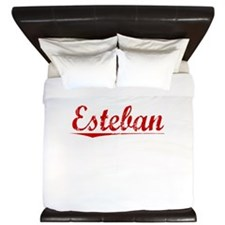 Esteban, Vintage Red King Duvet