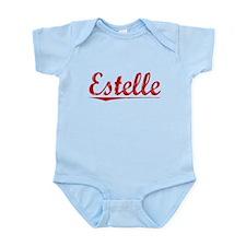 Estelle, Vintage Red Infant Bodysuit