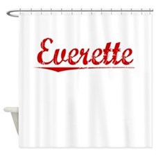 Everette, Vintage Red Shower Curtain