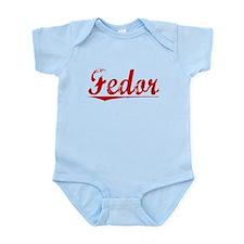 Fedor, Vintage Red Infant Bodysuit