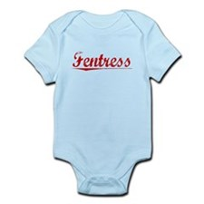 Fentress, Vintage Red Infant Bodysuit
