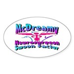 McDreamy Oval Sticker