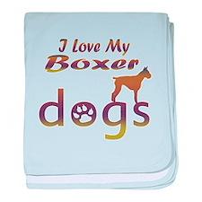 Boxer designs baby blanket