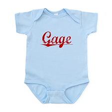 Gage, Vintage Red Infant Bodysuit