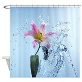 Water Lily Splash Shower Curtain