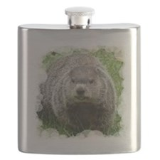 Groundhog Eating Flask