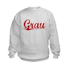 Grau, Vintage Red Sweatshirt