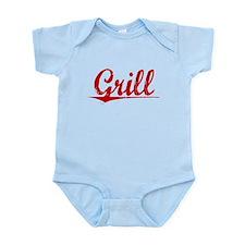 Grill, Vintage Red Infant Bodysuit