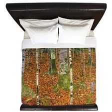 Silver Birches by Klimt King Duvet