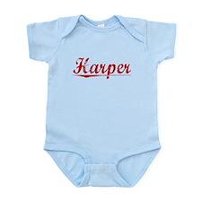 Harper, Vintage Red Infant Bodysuit