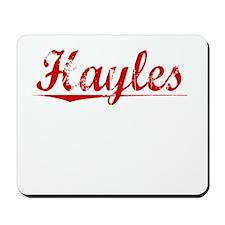 Hayles, Vintage Red Mousepad