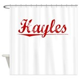 Hayles, Vintage Red Shower Curtain