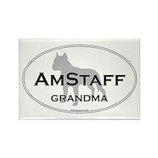 Am Staff Terrier GRAN Rectangle Magnet