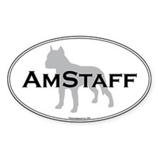 Am Staff Terrier Oval Decal