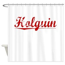 Holguin, Vintage Red Shower Curtain