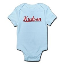 Hudson, Vintage Red Infant Bodysuit