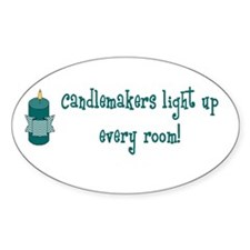 Candlemakers Light... Oval Decal