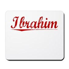Ibrahim, Vintage Red Mousepad