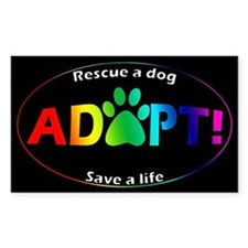 Adopt Decal (Multi on Black) Decal